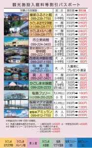 観光施設入館料等割引パスポート(2019年10月1日現在)
