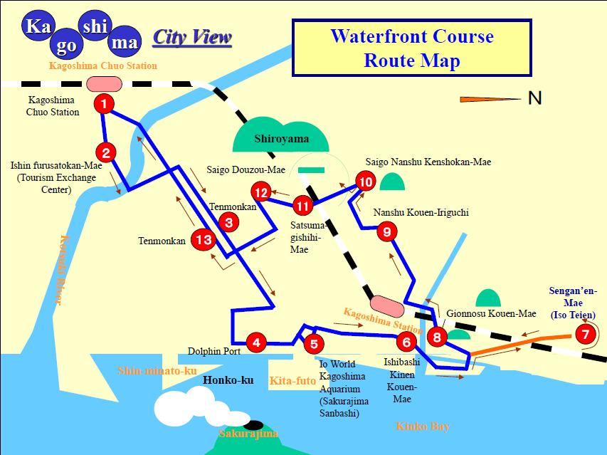 Easygoing Tour Kagoshima City Transport Bureau - Japan map kagoshima